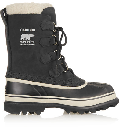 Sorel - Caribou Waterproof Suede And Rubber Boots - Black