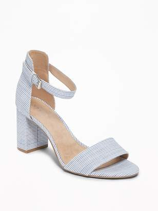 Old Navy Striped Block-Heel Sandals for Women