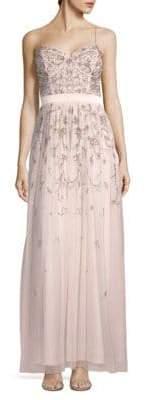Aidan Mattox Embellished Sleeveless Gown