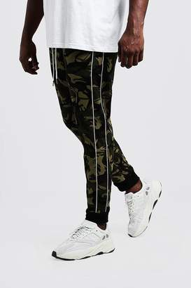 boohoo Big & Tall Camo Trouser With Piping