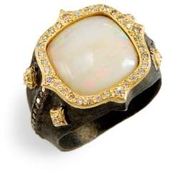 Armenta Old World Cushion Opal Ring