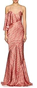 Zac Posen Women's Floral Silk Satin Gown - Red