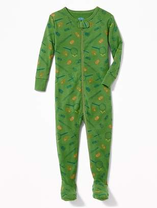 Old Navy Bug-Print Footed Sleeper for Toddler Boys & Baby