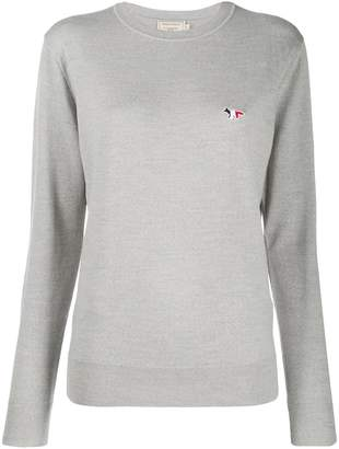 MAISON KITSUNÉ fox patch sweater