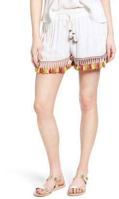 Women's Band Of Gypsies Tassel Trim Shorts $59 thestylecure.com