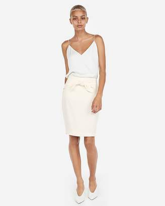 Express High Waisted Sash Tie Pencil Skirt