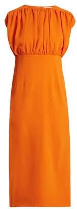 Emilia Wickstead Macy Stretch Crepe Dress - Womens - Orange