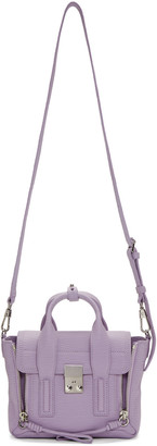 3.1 Phillip Lim SSENSE Exclusive Purple Mini Pashli Satchel $695 thestylecure.com