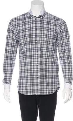 Christian Dior Plaid Dress Shirt