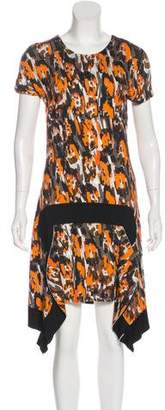 Just Cavalli Short Sleeve Knit Dress