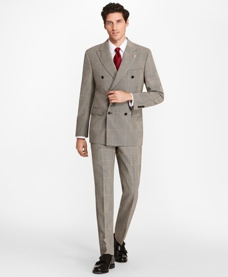 Brooks Brothers Regent Fit Double-Breasted Plaid 1818 Suit