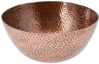 Thirstystone COLLECTION Urban Farm Round Hammered Antique Copper Bowl