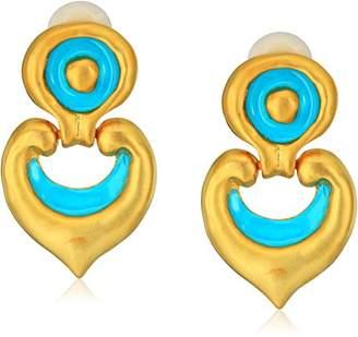 Kenneth Jay Lane Satin Gold Earrings