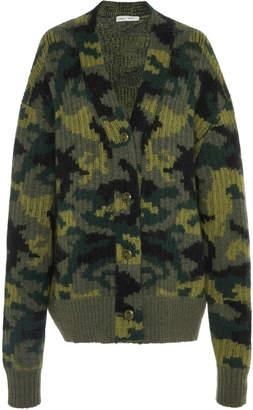 Proenza Schouler PSWL Camo Jacquard Intarsia Knit Cardigan