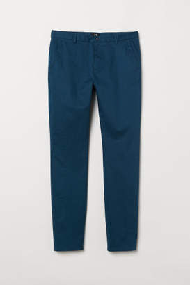 H&M Slim Fit Cotton Chinos - Turquoise