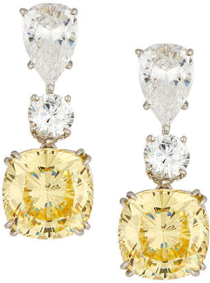 FANTASIA Mixed Triple-Drop Cubic Zirconia Earrings