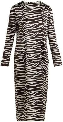 Blakely zebra-print silk-blend dress