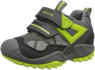 Geox Kids J N.Savage B.A Sneakers, Grey/Lime