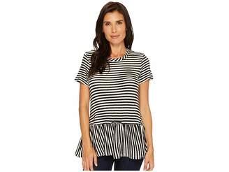 Bobeau B Collection by Jasey Peplum Knit Tee Women's T Shirt