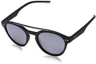 Polaroid Unisex's PLD 6030/S 5X 003 Sunglasses, Matt Black Grey Speckled Blue Pz