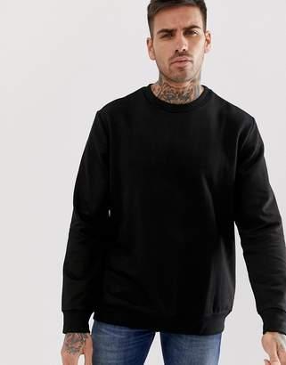 Bershka sweatshirt in black