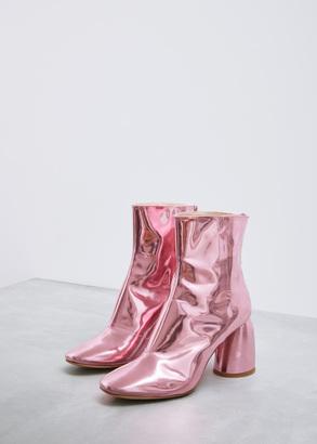 pink jezebels mirror bootie