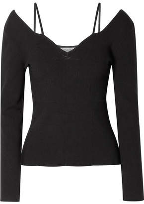Altuzarra Berrima Cutout Ribbed-knit Sweater - Black
