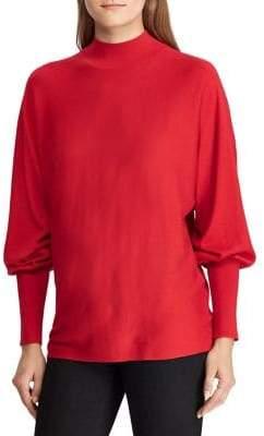 Lauren Ralph Lauren Dolman-Sleeve Mockneck Sweater