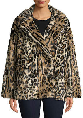 Free People Kate Leopard Coat