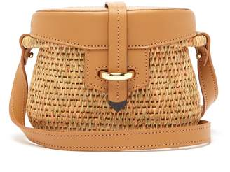 KHOKHO Jabu leather-trimmed mini basket bag
