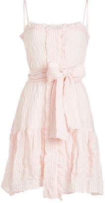 Lisa Marie Fernandez Ruffle Slip Cotton Mini Dress