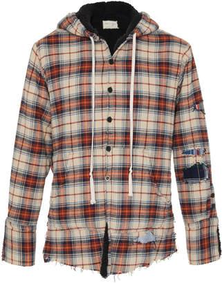 Greg Lauren Baja Sherpa Hooded Shirt Jacket