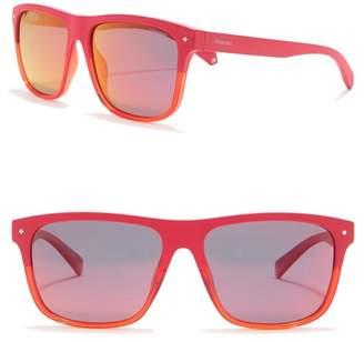 Polaroid Polarized 56mm Square Sunglasses
