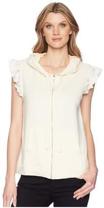 Bobeau B Collection by Keeley Ruffle Hoodie Women's Sweatshirt