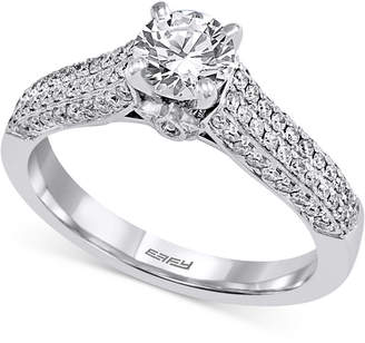 Effy Diamond Pave Engagement Ring (1 ct. t.w.) in 14k White Gold