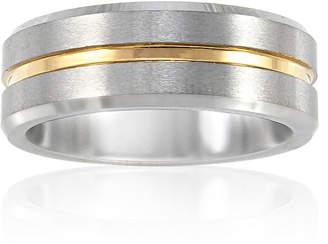 MODERN BRIDE Mens 8mm Tungsten Carbide Comfort Fit Wedding Band