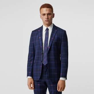 Burberry Slim Fit EKD Check Wool Tailored Jacket