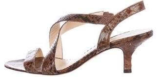 Alexandre Birman Snakeskin Slingback Sandals