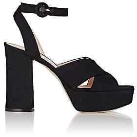 Gianvito Rossi Women's Crisscross Platform Sandals-Dark Black