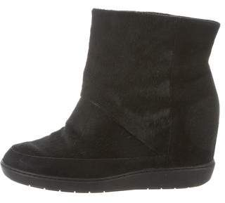 Vince Ponyhair Wedge Boots