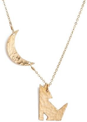 Women's Nashelle Coyote Pendant Necklace $85 thestylecure.com