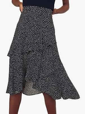 a28cf1d2680 Oasis Lily Ruffle Skirt, Multi Black