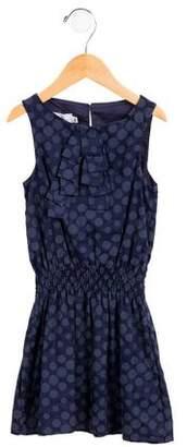 Christian Dior Girls' Sleeveless Polka Dot Dress