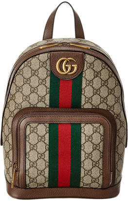 Gucci Ophidia Small Gg Supreme Canvas & Leather Backpack