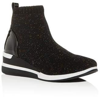 Steve Madden Girls' JDusky Knit High-Top Platform Sneakers - Little Kid, Big Kid