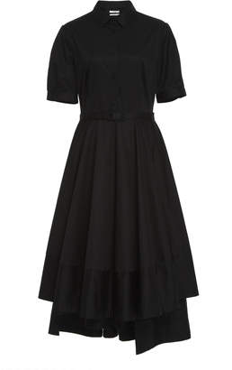 Co Belted Sateen Dress