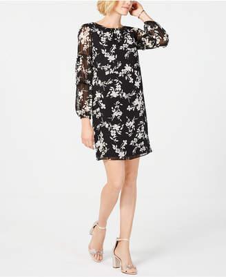 Jessica Howard Floral Chiffon Ruffle Dress