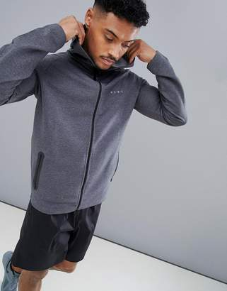 Asos 4505 4505 zip up hoodie in grey marl