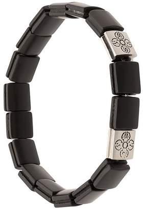Nialaya Jewelry Dorje flatbead matte onyx bracelet