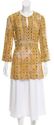 Tory Burch Silk Patterned Tunic